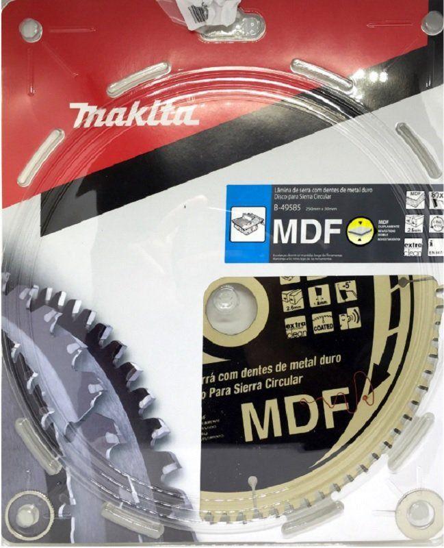 DISCO DE SERRA 250X30X80T DENTE HI-ATB B-49585- MAKITA