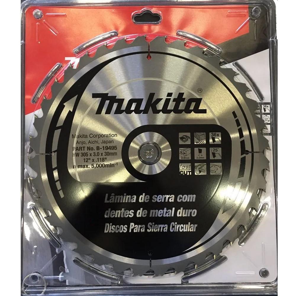 DISCO DE SERRA P/ MADEIRA 36 DENTES 305MM - B-19495 MAKITA