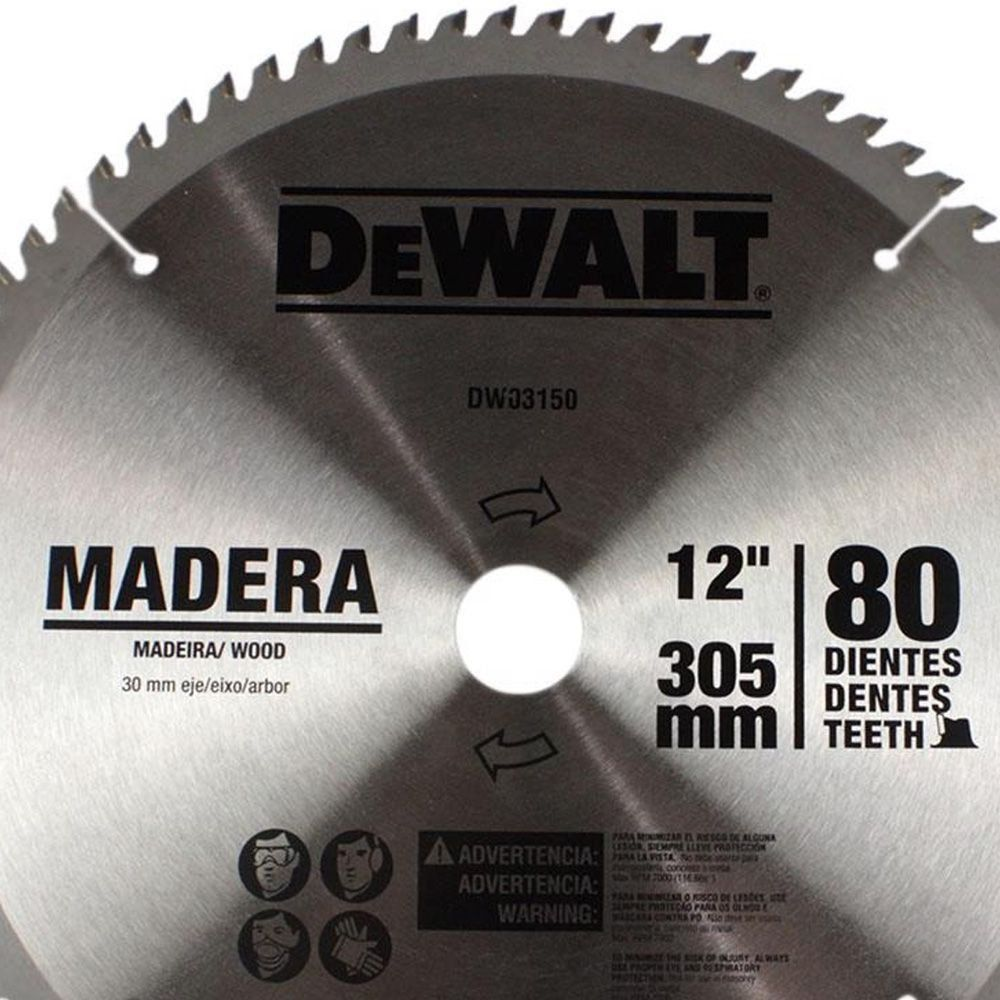 LAMINA SERRA ESQ.12 80 DENTES MADEIRA -DEWALT DWA03150
