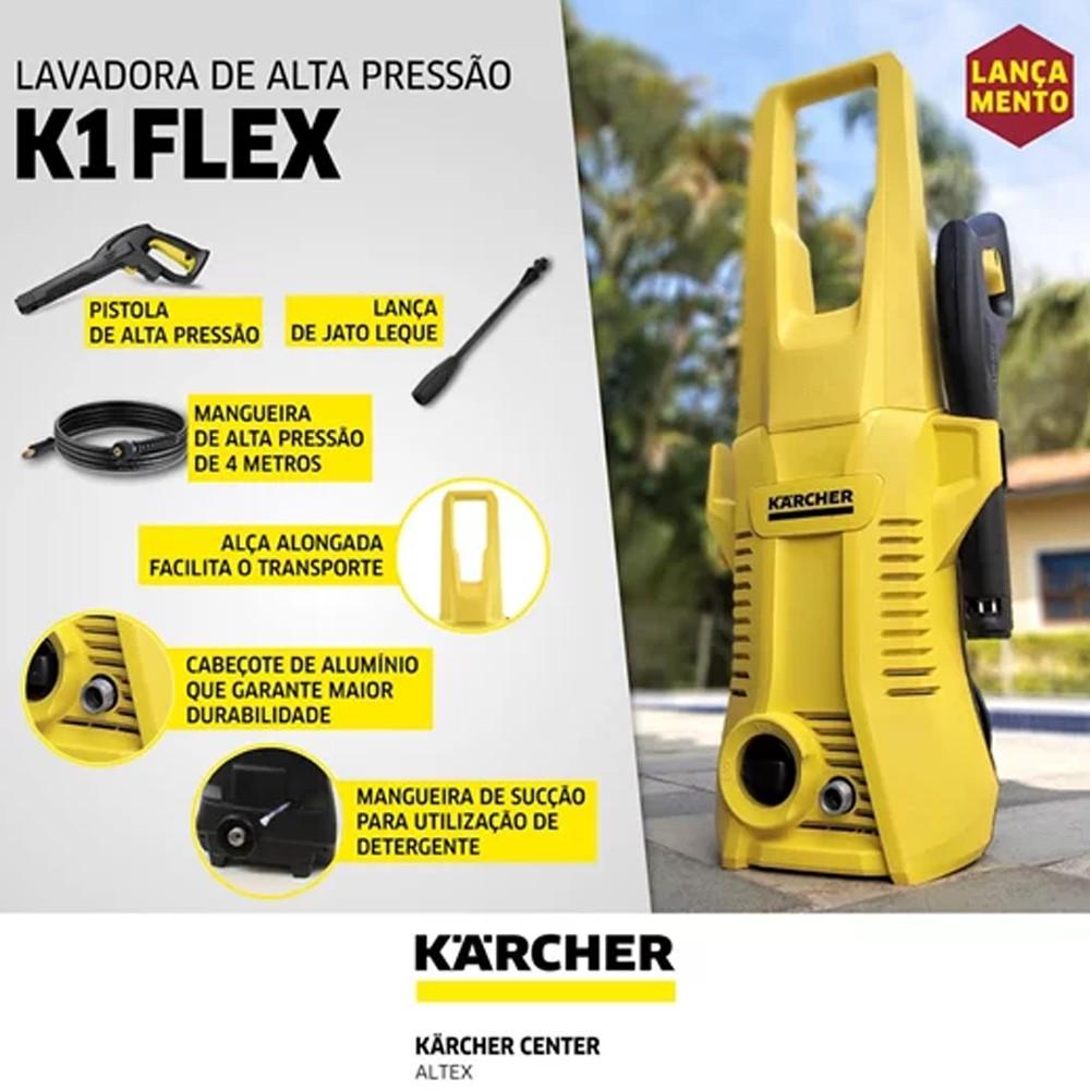 LAVADORA DE ALTA PRESSÃO 1200W - K1 FLEX KARCHER
