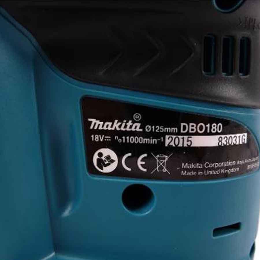 Lixadeira Roto Orbital A Bateria - Dbo180z Makita