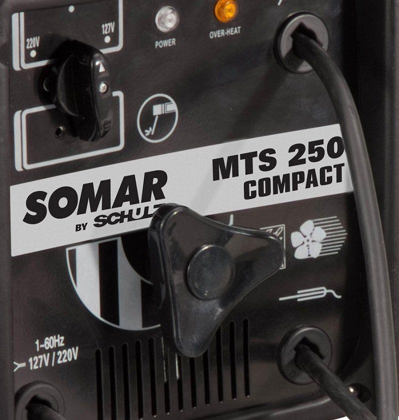 MÁQUINA TRANSFORMADOR DE SOLDA MTS250M COMPACT SOMAR BY SCHULZ