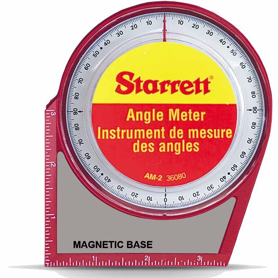 MEDIDOR DE ANGULOS COM BASE MAGNETICA -STARRETT - AM-2