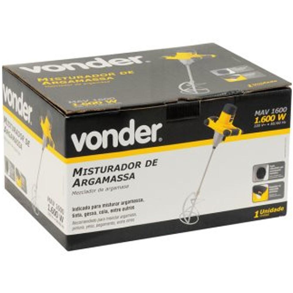 MISTURADOR DE ARGAMASSA 1600W -  MAV1600 VONDER