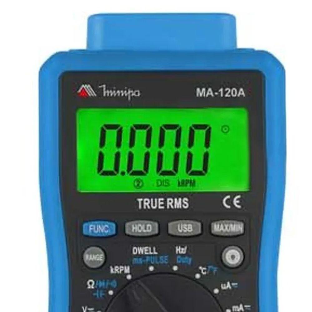 MULTIMETRO DIGITAL AUTOMOTIVO  TEMPERATURA RPM - MA-120A MINIPA