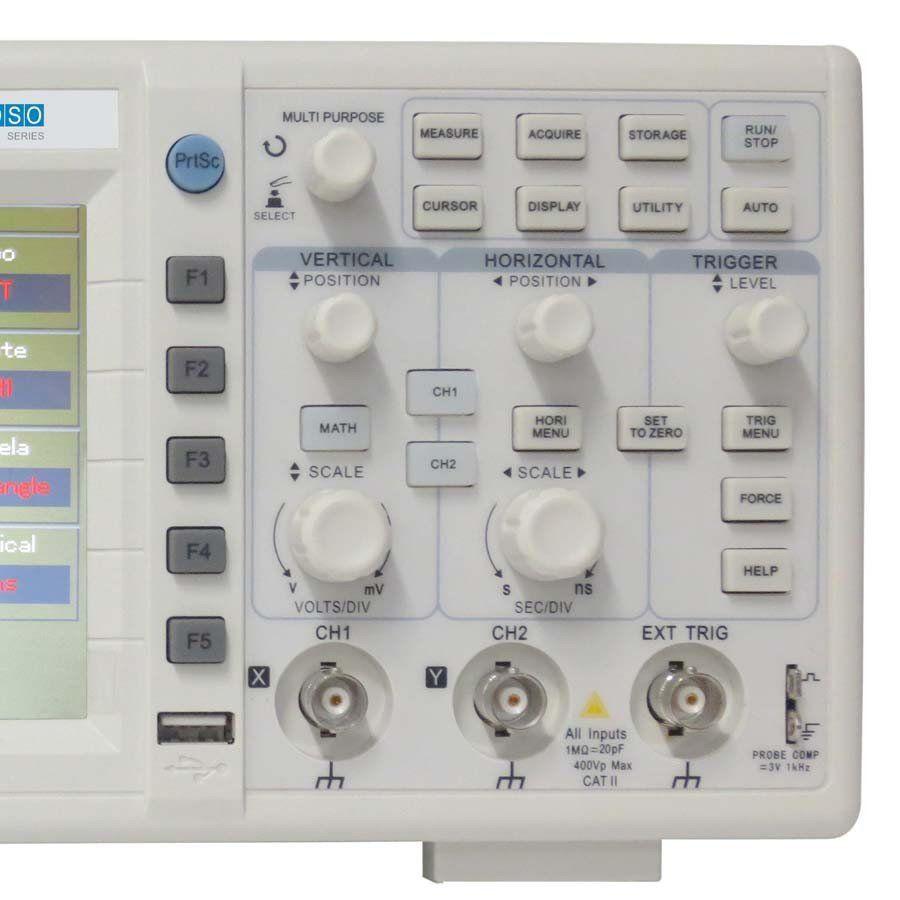 Osciloscopio Digital 2 Canais Profissional Minipa - MVB-DSO