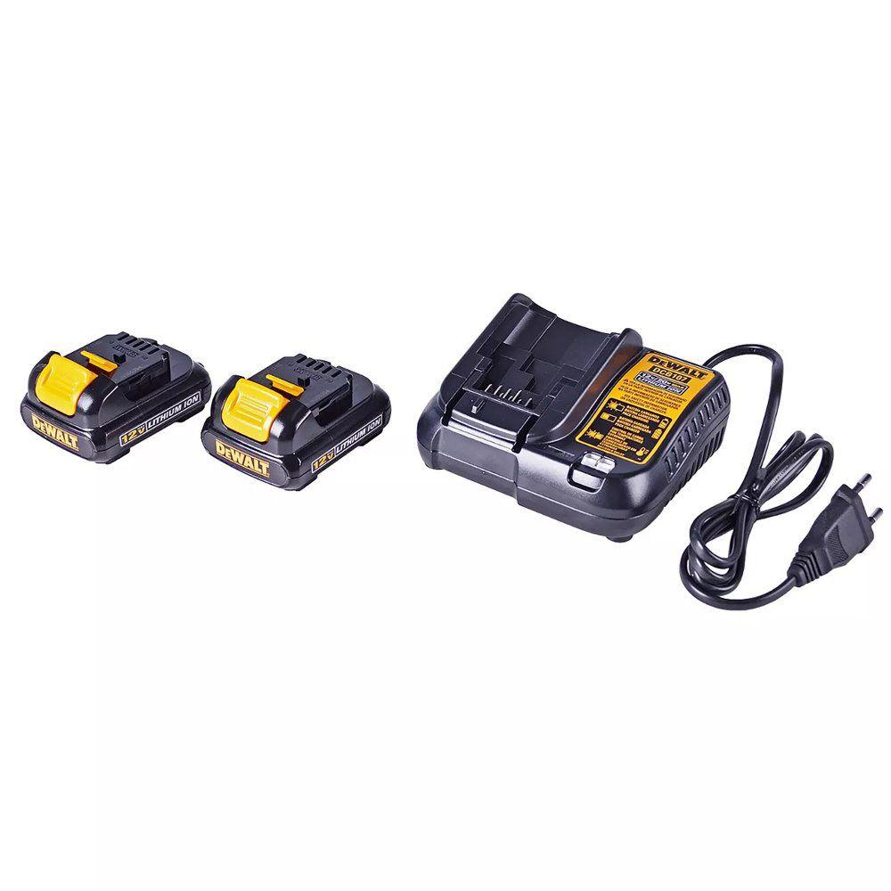 Parafusadeira Furadeira 1/4 Dewalt Dcf610s2 B2 Bateria Litio