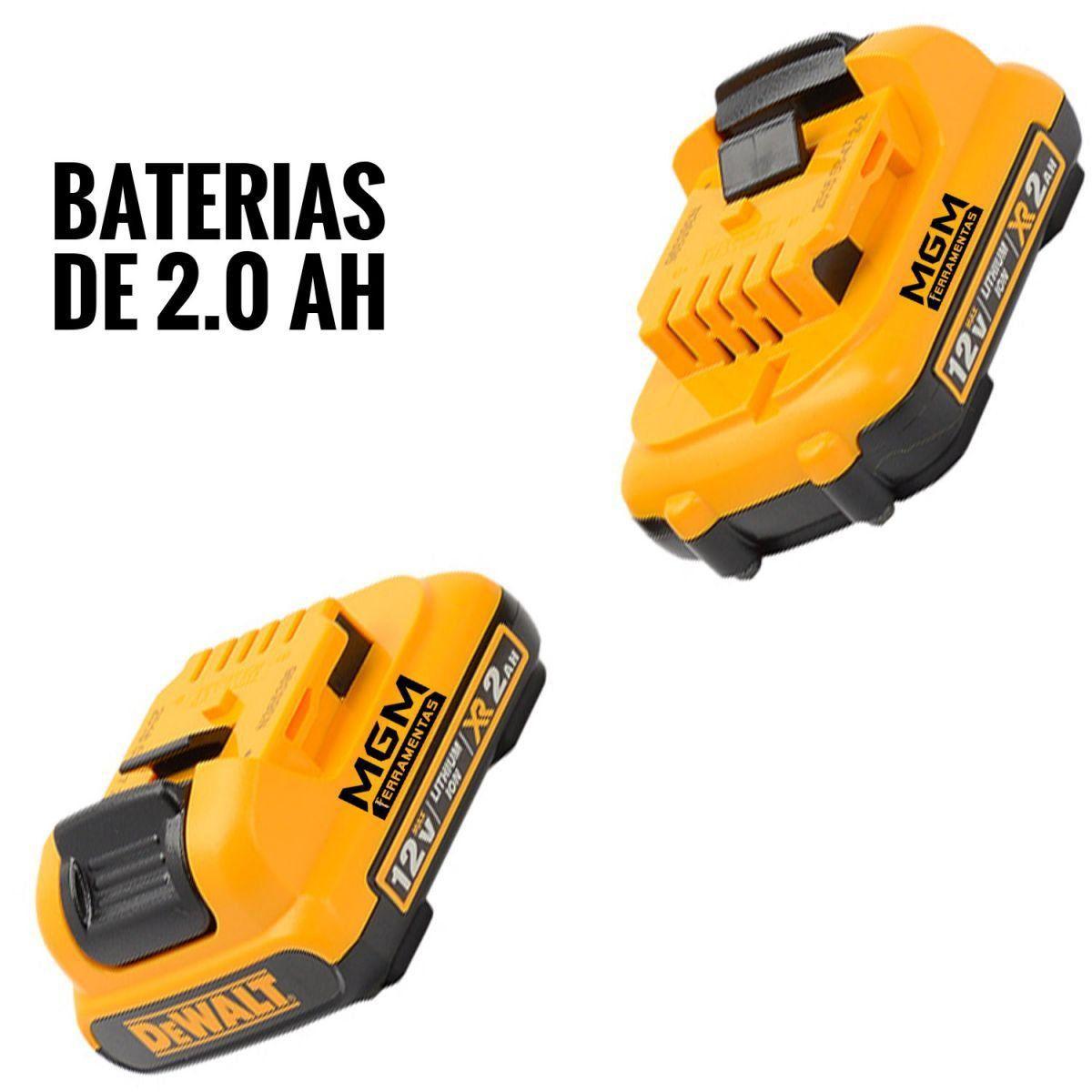 PARAFUSADEIRA E FURADEIRA 3/8 À BATERIA DE 12 V DEWALT DCD710D2