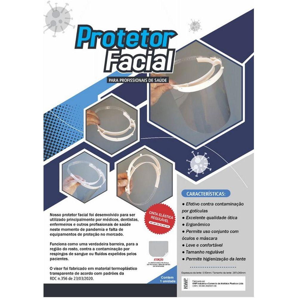 PROTETOR FACIAL COM CINTA REGULÁVEL 240MM - 7078005200 KWP