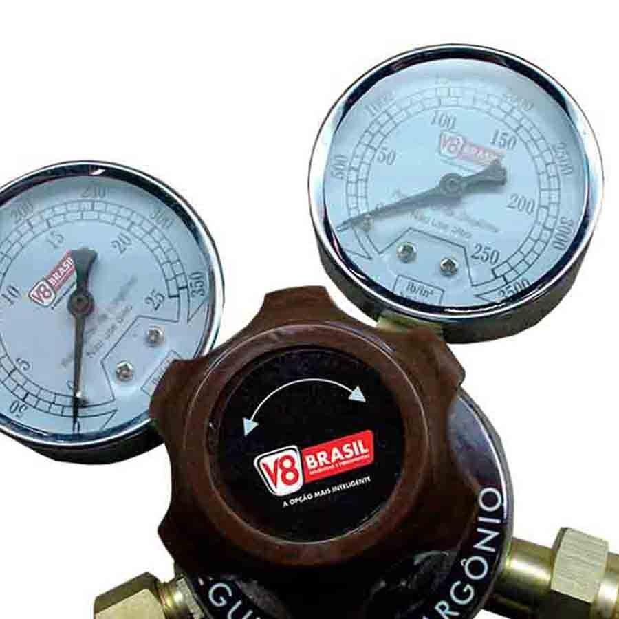 Regulador de Pressão Argônio  V8 Brasil - V8-AR-11