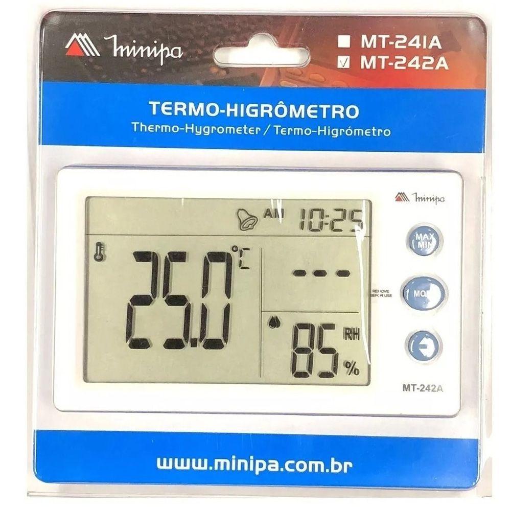 RELOGIO TERMO-HIGROMETRO INT. - MT-242A MINIPA