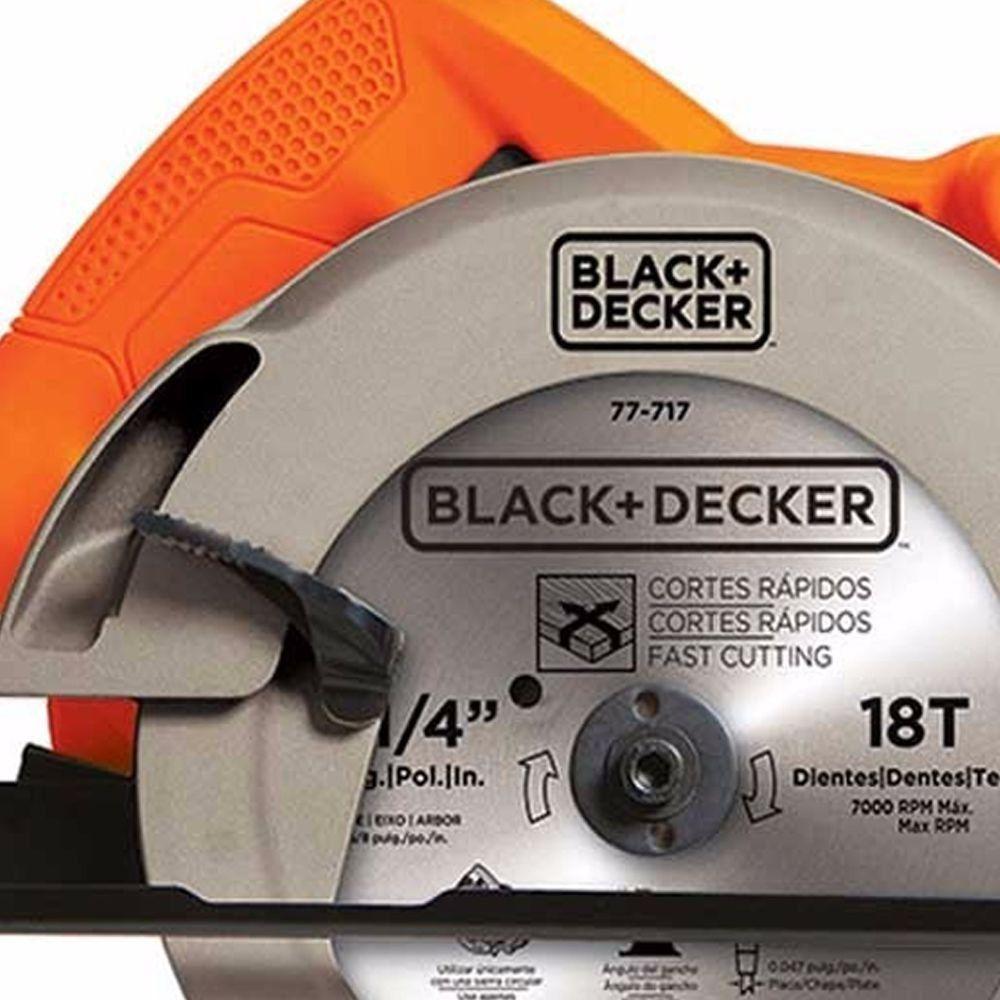 "SERRA CIRCULAR 7 1/4"" - BLACK + DECKER CS1004"