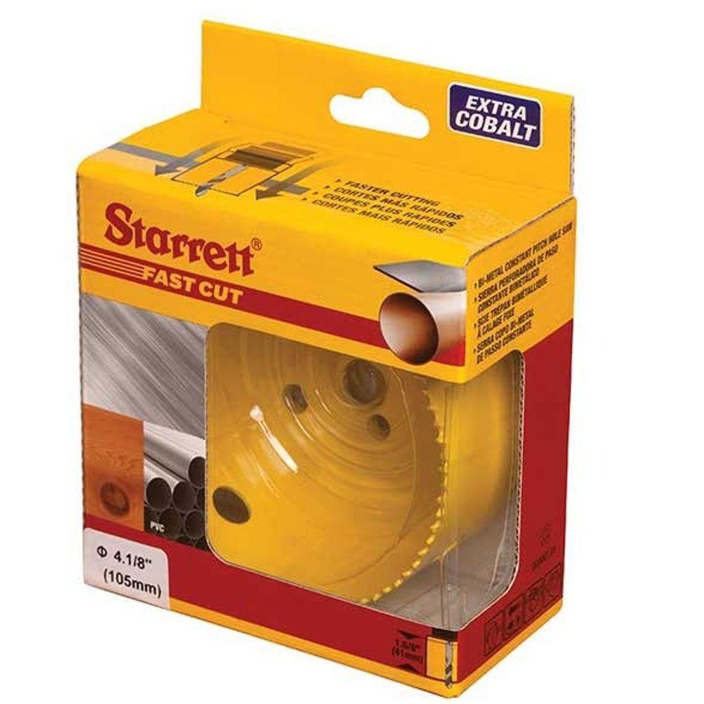 """SERRA COPO FAST CUT BI-METAL 41/8"""" (105MM) - STARRETT FCH0418-G"""