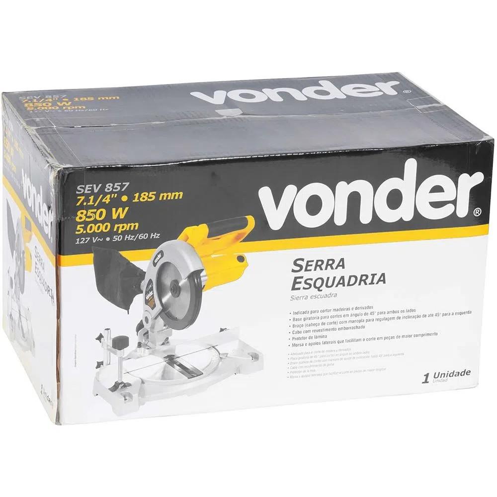 SERRA ESQUADRIA 7.1/4 850W - SEV857 VONDER