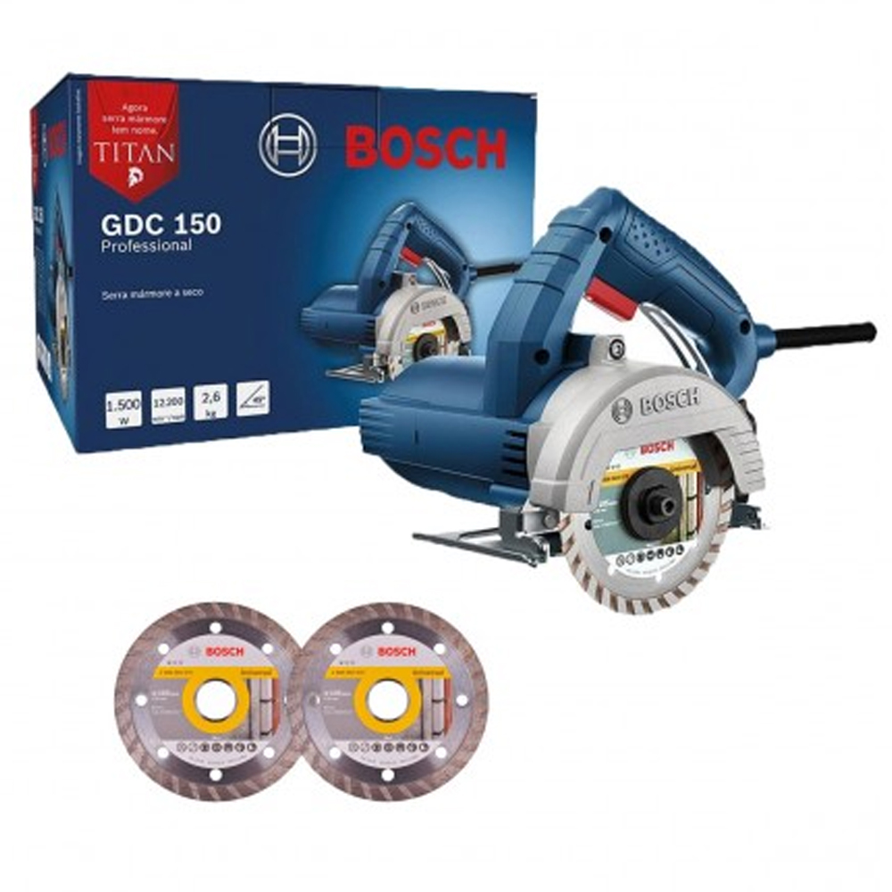 SERRA MARMORE TITAN GDC 150 220V 2 DISCOS - BOSCH