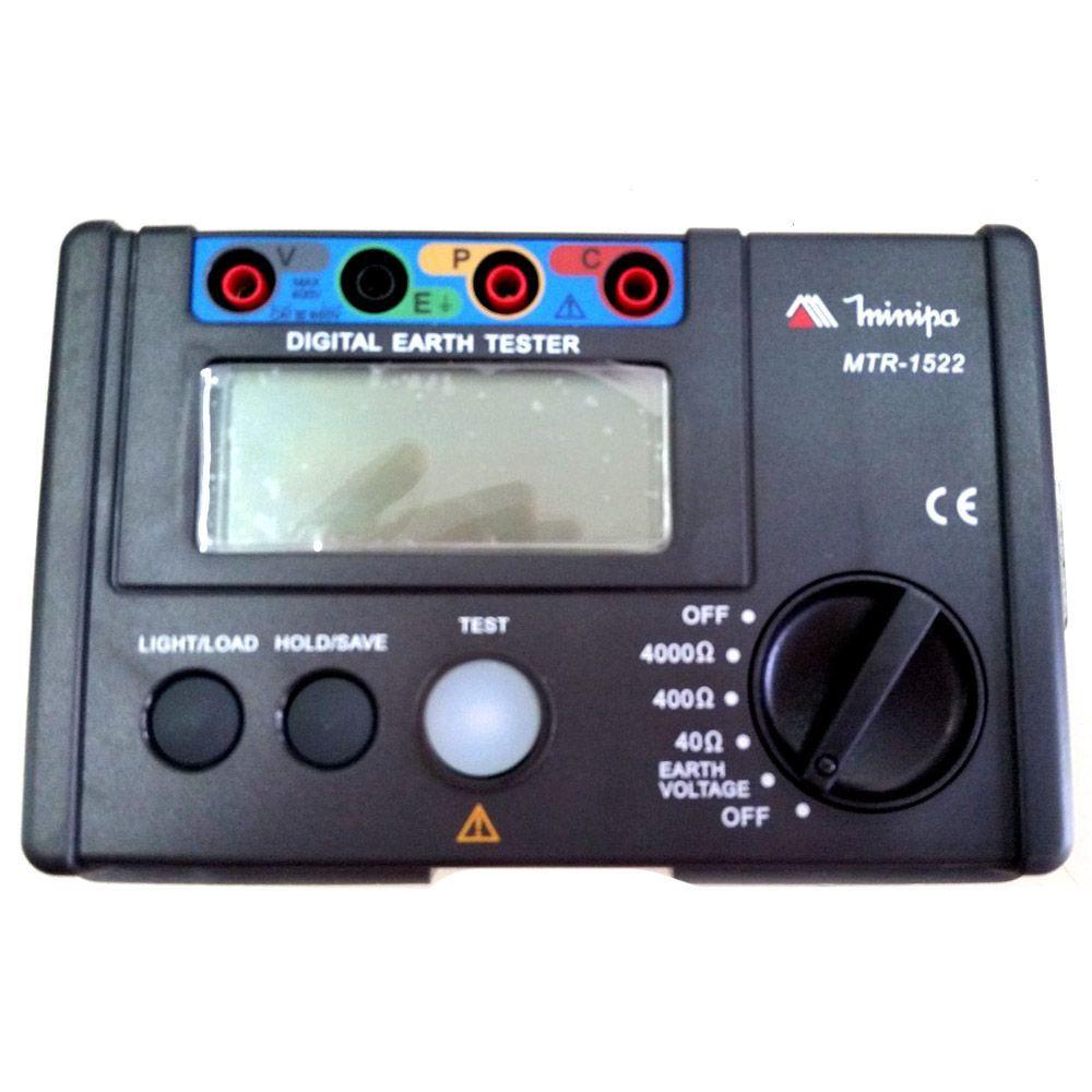 TERRÔMETRO DIGITAL LCD 3 3/4 DÍGITOS - MTR-1522 MINIPA