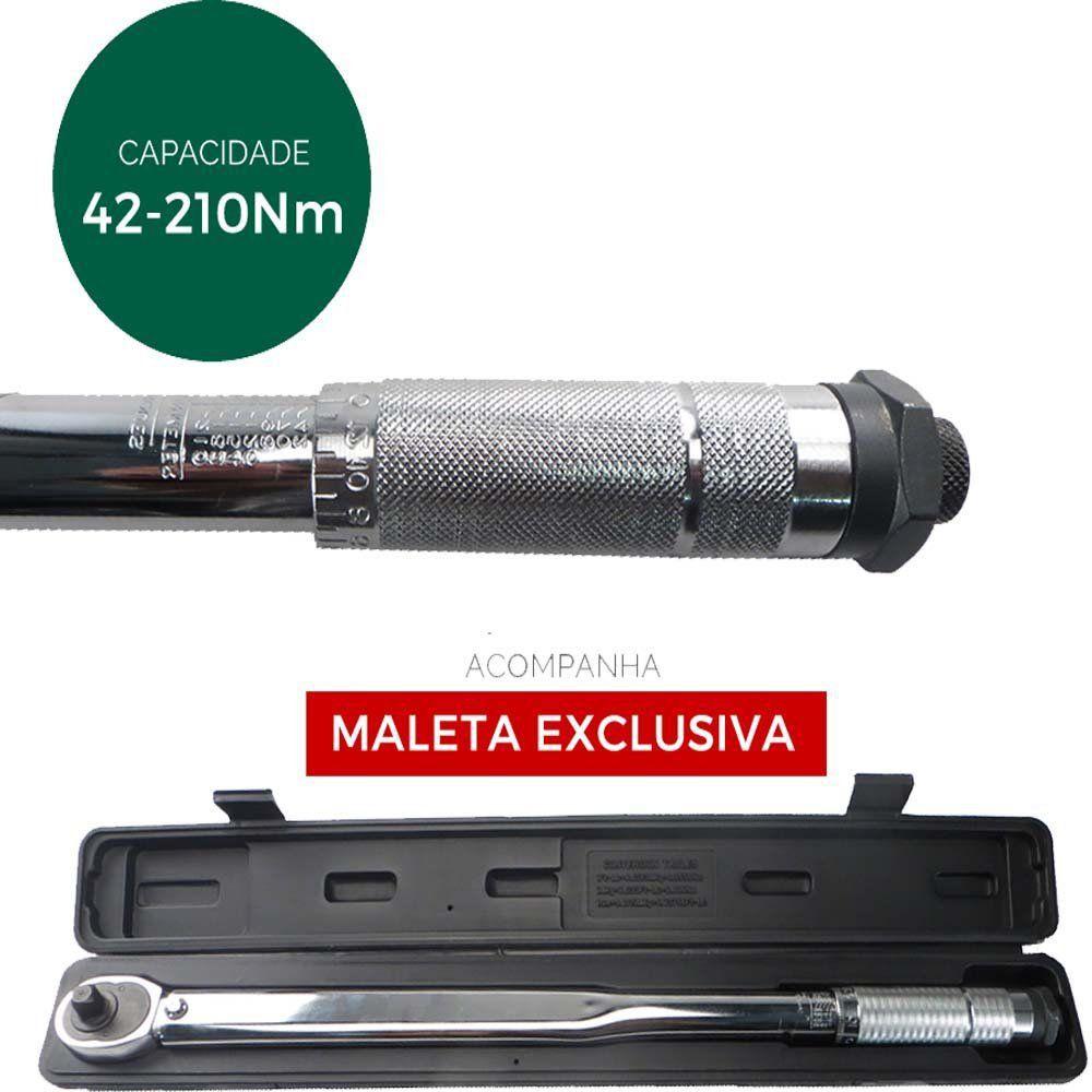 TORQUIMETRO DE ESTALO 42-210 N.M ENCAIXE 1/2 - 141609 - MTX