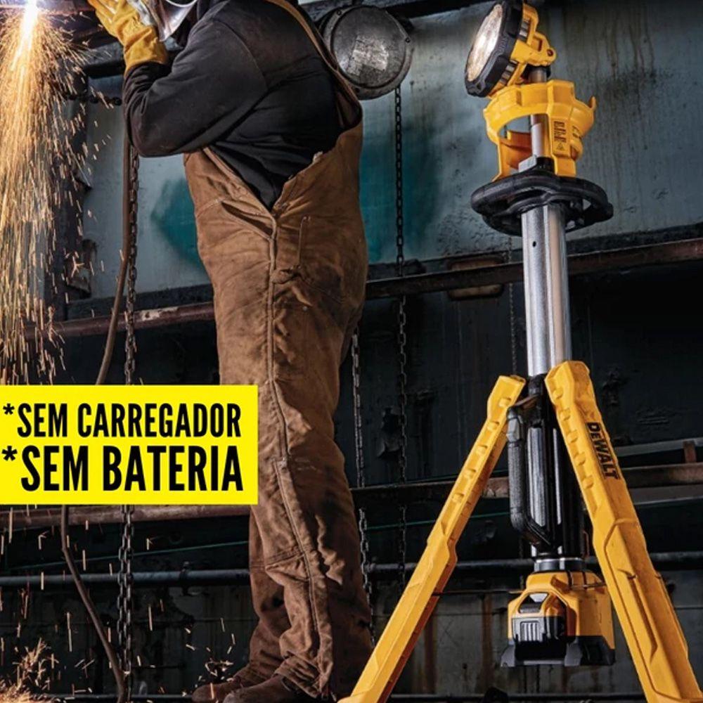 TORRE DE ILUMINAÇÃO 20V MAX SEM CARREGADOR E SEM BATERIA - DEWALT DCL079B