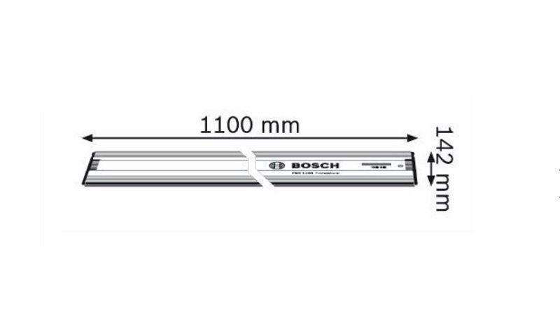 Trilho guia para serra circular GKS 65 GCE 110cm FSN 1100 1600Z00006 Bosch