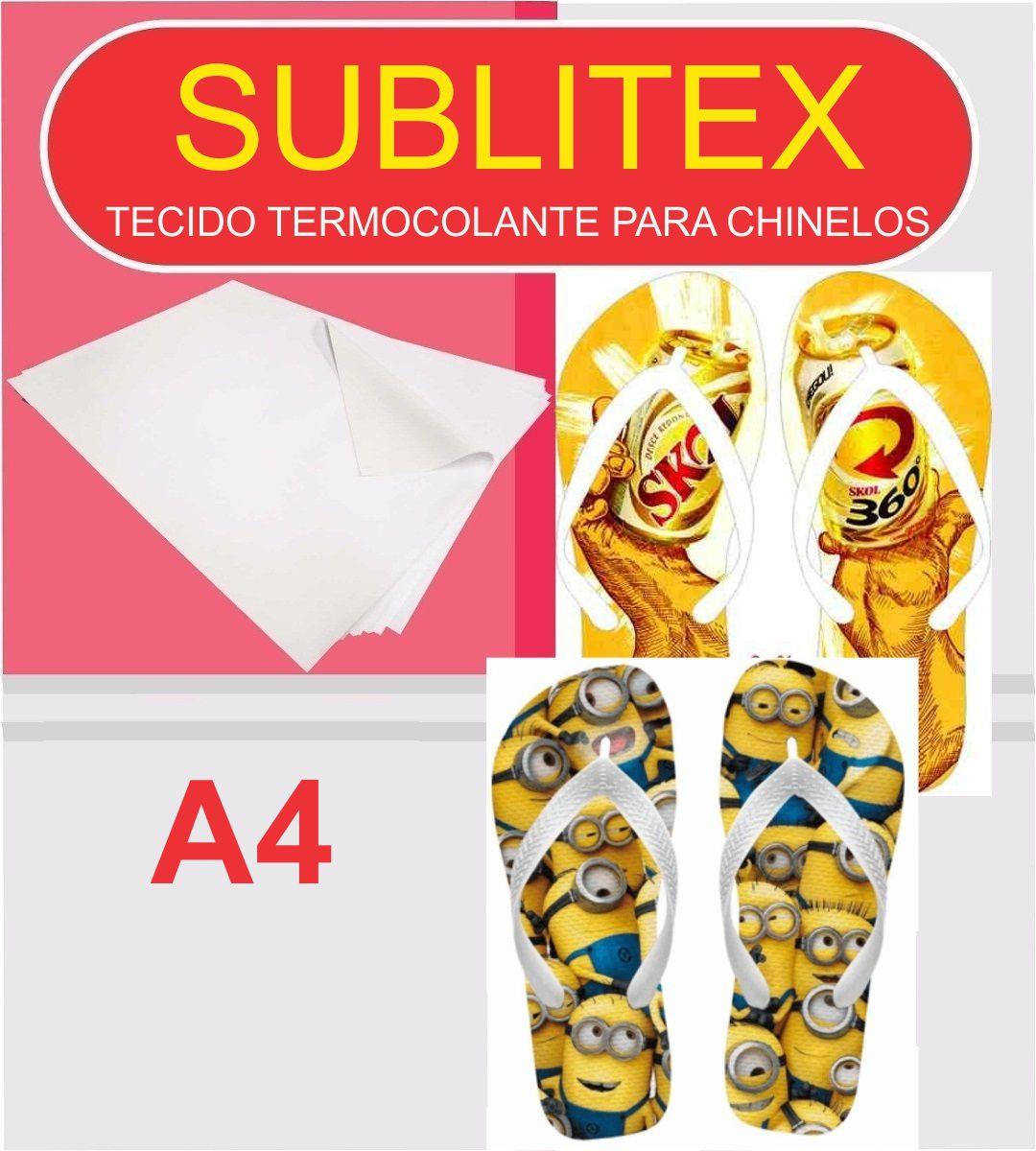 Sublitex - Tecido Termocolante para Sublimação Chinelos - A4