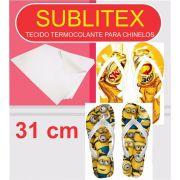 Sublitex - Tecido Termocolante para Sublimação Chinelos - 31 Cm