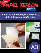 PAPEL TEFLON - Papel Release Anti Aderente - A3
