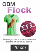 OBM Flock - Fundo Branco Sublimatico Flocado - 46 cm