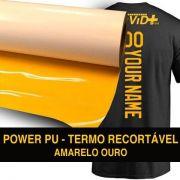 Power PU - Termocolante Recortável - Amarelo Ouro - 30 cm