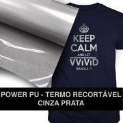 Power PU - Termocolante Recortável - Cinza Prata - 31 cm