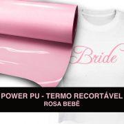 Power PU - Termocolante Recortável - Rosa - 31 cm