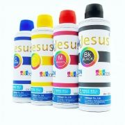 Tinta Sublimatica InkJesus - kit 4 cores x 100 ml + ICC