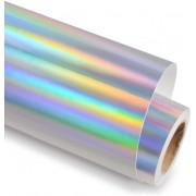 Vinil Adesivo Silhouette Holografico Prata - 30 CM