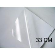 Vinil Adesivo Transparente P/ Sublimação ou Laser - 33 CM