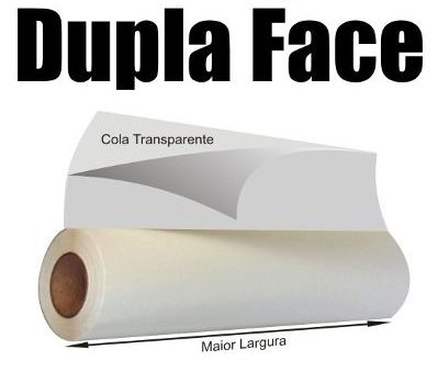 ADESIVO FITA DUPLA FACE - 33 cm Largura