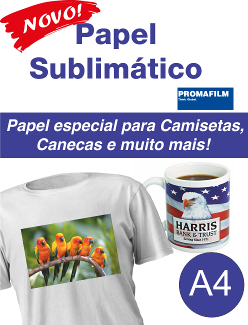 250 Obm Sublitex A4 + 250 Papel Sublimático A4