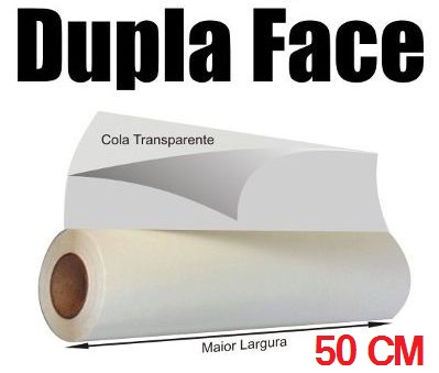 ADESIVO FITA DUPLA FACE - 50cm Largura