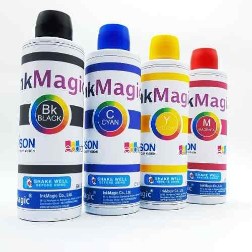 Tinta Sublimação InkMagic 4 X 100ml + 300 Papel Sublimático A4 + Icc