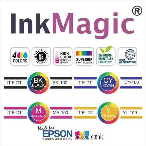Kit Tinta InkMagic 4 X 100ml + 100 Papel Sublimático A4 + 50 Obm