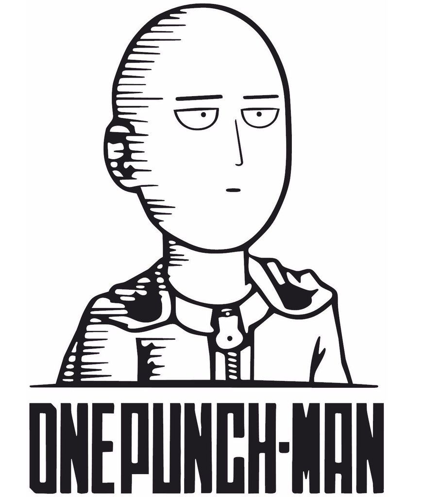 A1397 Adesivo Anime One Punch Man