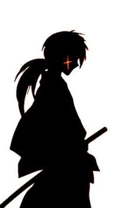 A1428 Adesivo Anime Samurai X
