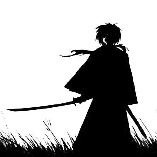 A1430 Adesivo Anime Samurai X