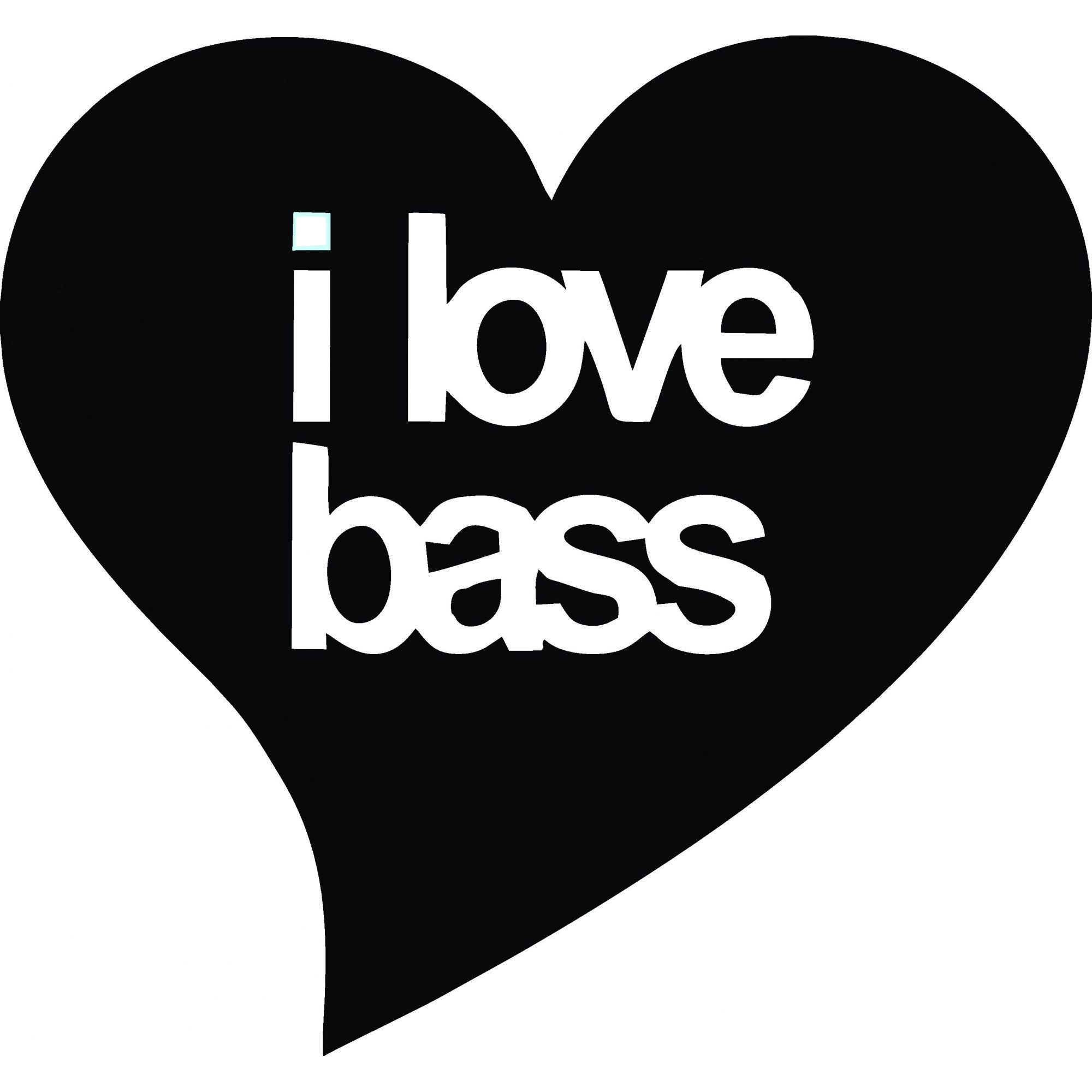 A1495 Auto Adesivo Automotivo I Love Bass