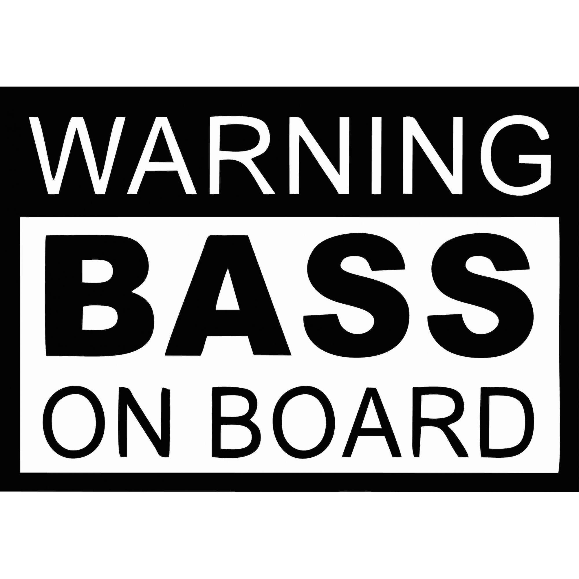 A1498 Auto Adesivo Automotivo Bass on Board