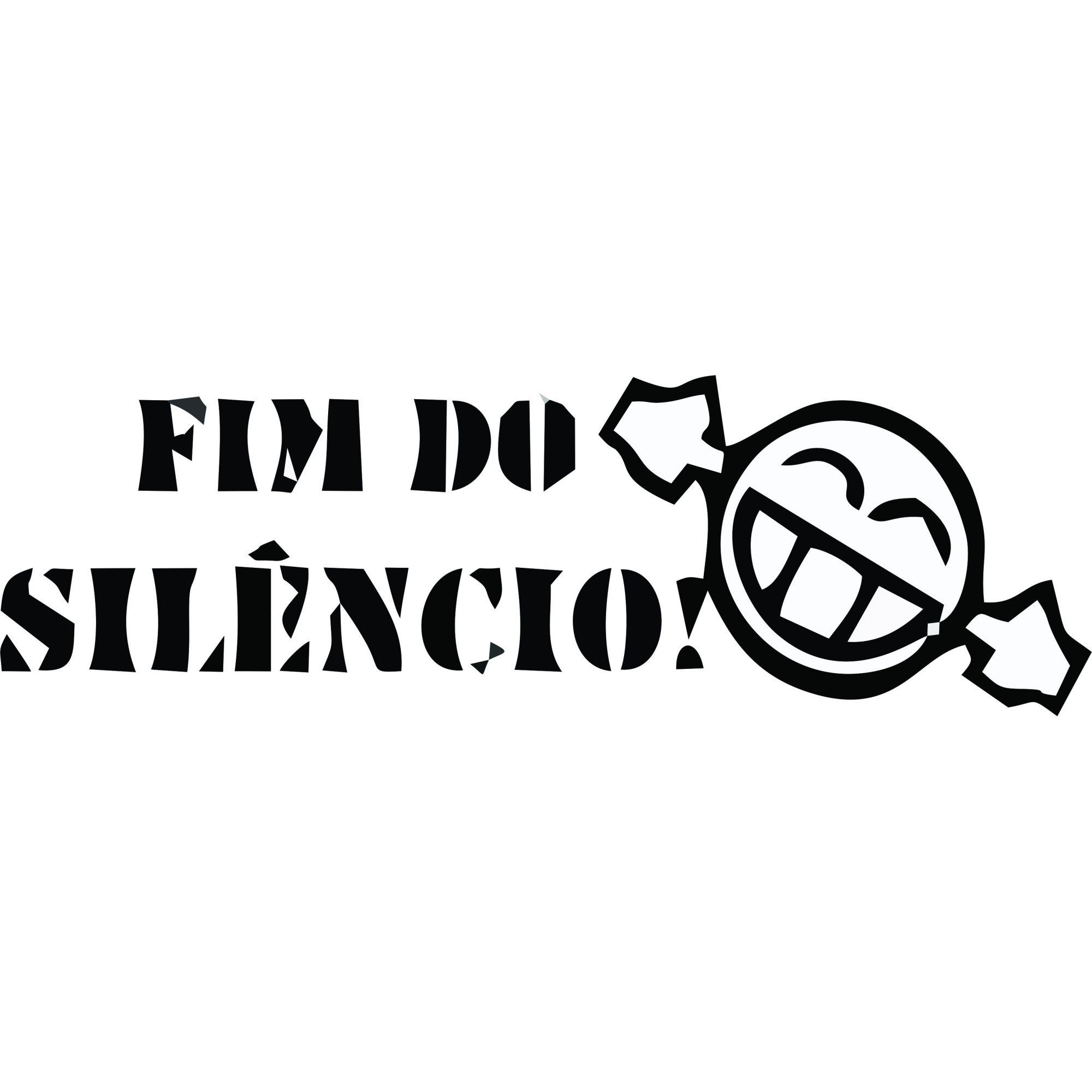 A1506 Auto Adesivo Automotivo Fim do Silencio