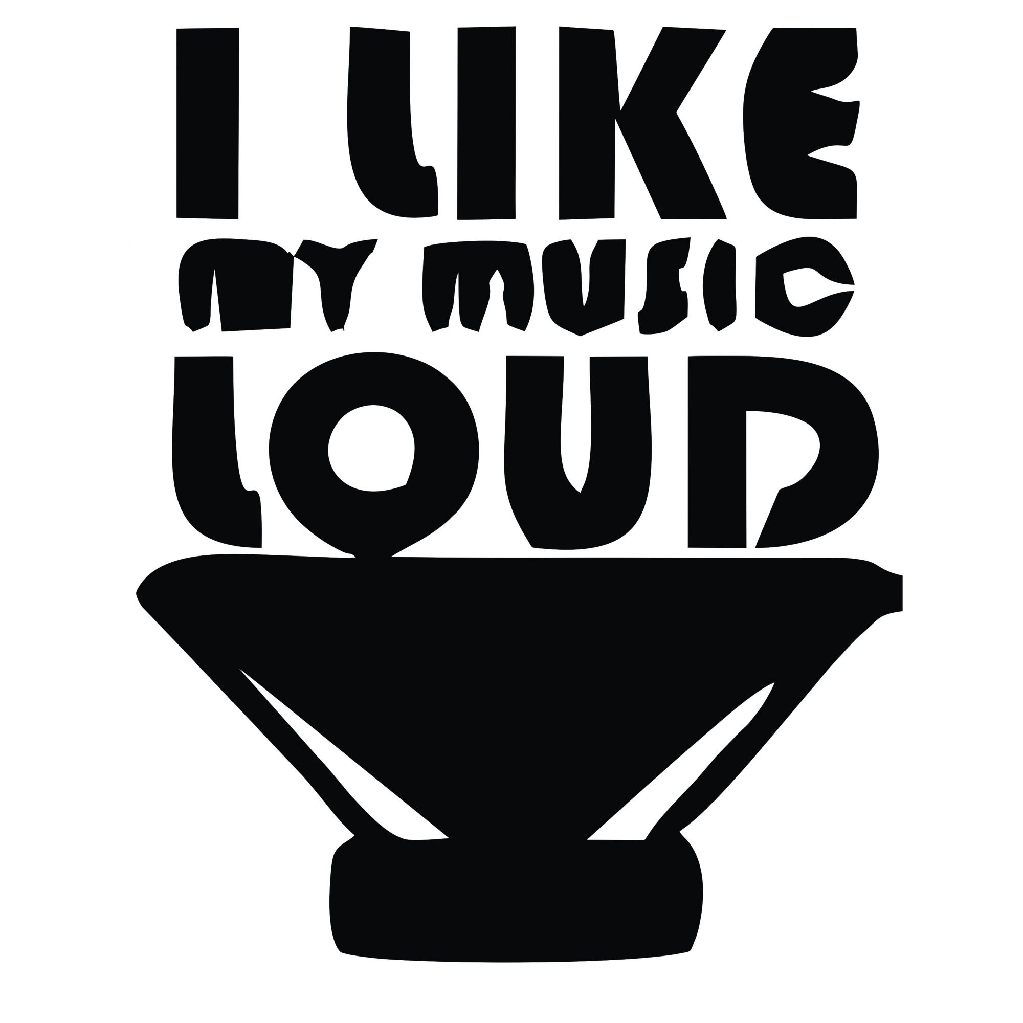 A1508 Auto Adesivo Automotivo I Love My Music Loud