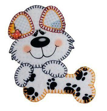 Aplique termocolante Cachorro C016 -10 cm