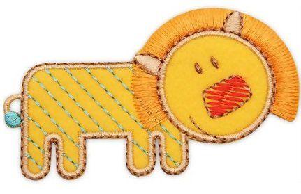 Aplique termocolante Leão C058 -10 cm
