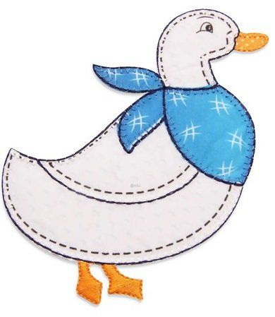 Aplique termocolante Pato C055 -10 cm
