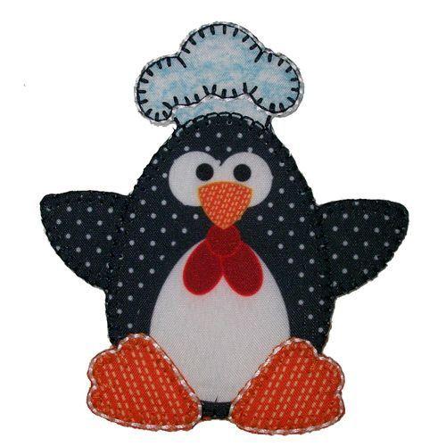 Aplique termocolante Pinguim C006 -10 cm
