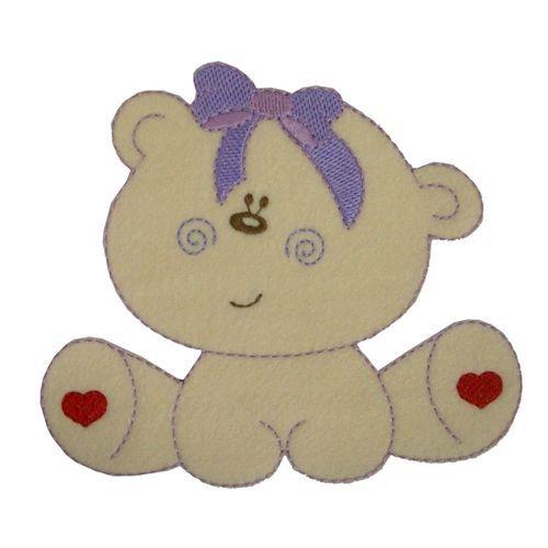 Aplique termocolante Urso C007 -10 cm